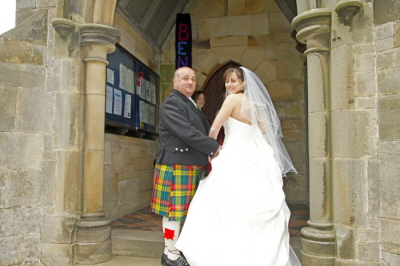 Bride And Father Arrival